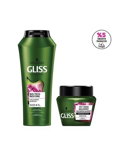 Gliss Bio-Tech Güçlendirici Bakım Seti (şampuan 500 Ml + Saç Bakım Maskesi 300 Ml)  Renksiz